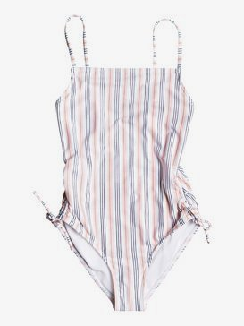 록시 여아용 8-16 원피스 수영복 Chase Your Dream One-Piece Swimsuit,BRIGHT WHITE MAY STRIPES S (wbb4)