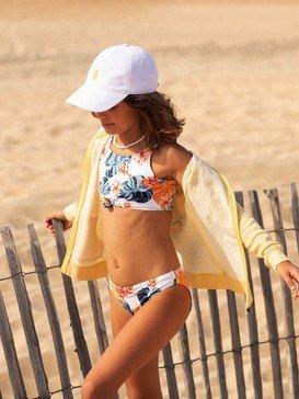 록시 여아용 8-16 비키니 수영복 세트 Beautiful Mind Crop Top Bikini Set,BRIGHT WHITE STANDAR GIRL S (wbb7)