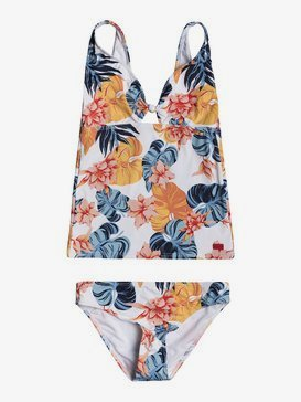 록시 여아용 8-16 비키니 수영복 세트 Beautiful Mind Tankini Bikini Set,BRIGHT WHITE STANDAR GIRL S (wbb7)