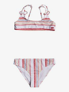 록시 여아용 8-16 비키니 수영복 세트 Enjoying Waves Bralette Bikini Set,BRIGHT WHITE BRUEL STRIPES S (wbb3)