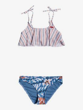 록시 여아용 8-16 비키니 수영복 세트Chase Your Dream Flutter Bikini Set,BLUE HEAVEN PARDEE S (blf9)