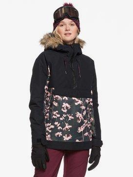록시 스노우 자켓 스키복 Roxy Shelter Snow Jacket,TRUE BLACK POPPY