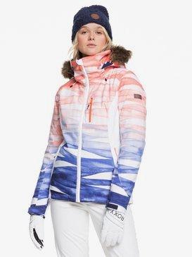록시 스노우 자켓 스키복 Roxy Jet Ski - Snow Jacket,MID DENIM YUMI YAMADA PRINT