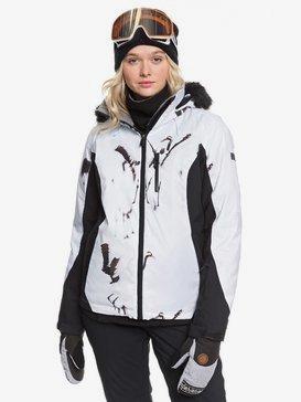 록시 스노우 자켓 스키복 Roxy Jet Ski - Snow Jacket,TRUE BLACK WHITE BIRDS