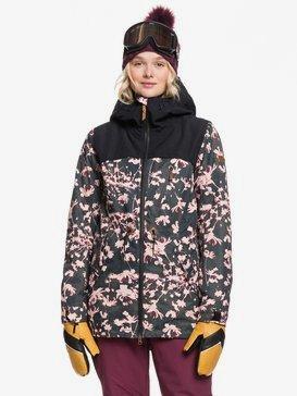 록시 스노우 자켓 스키복 Roxy Stated Snow Jacket,TRUE BLACK POPPY