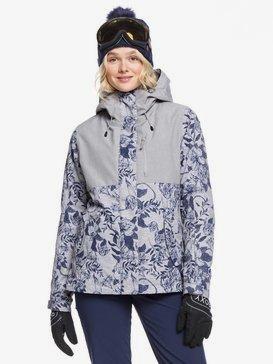 록시 스노우 자켓 보드복 Roxy ROXY Jetty 3-in-1 Snow Jacket,HEATHER GREY BOTANICAL FLOWERS