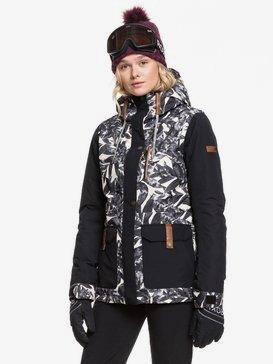 록시 스노우 자켓 스키복 Roxy Andie Snow Jacket,OYSTER GRAY HAWAIIAN PALM LEAF