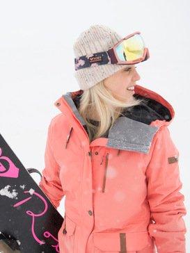 록시 스노우 자켓 스키복 Roxy Andie SpinDye - Snow Jacket,LIVING CORAL