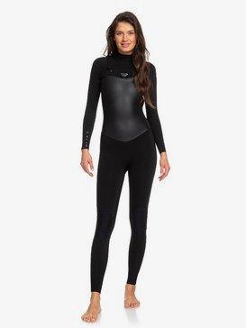록시 새틴 3/2mm 서핑 웻수트 Roxy Satin Chest Zip Wetsuit,BLACK