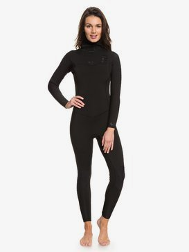 록시 서핑 웻수트 Roxy 5/4/3mm Syncro Series Hooded Chest Zip GBS Wetsuit,BLACK