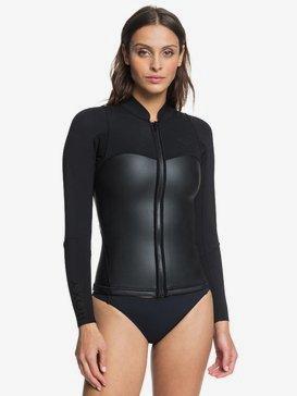 록시 새틴 1mm 서핑 웻수트 자켓 Roxy 1mm Satin Front Zip Wetsuit Jacket,BLACK