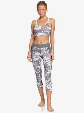 록시 Roxy Take Me To The Beach UPF 50 Capri Sports Leggings,CHARCOAL HEATHER DARWIN S (szch)