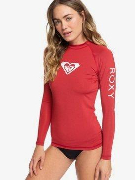 록시 Roxy Whole Hearted Long Sleeve UPF 50 Rashguard,DEEP CLARET (rqh0)