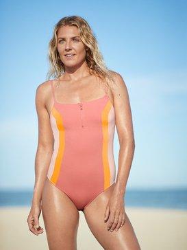 록시 Roxy POP Surf One-Piece Swimsuit,TERRA COTTA (mjn0)