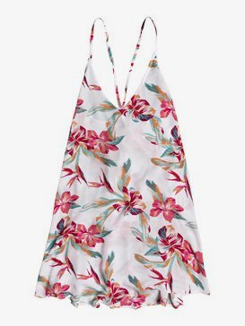 록시 비치 드레스 Roxy Be In Love Strappy Beach Dress,BRIGHT WHITE TROPIC CALL S (wbb7)