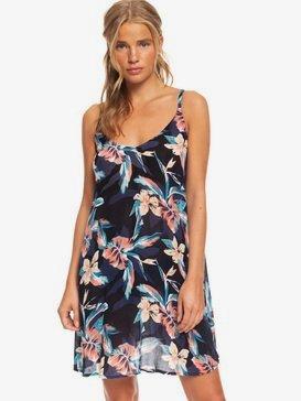 록시 비치 드레스 Roxy Be In Love Strappy Beach Dress,ANTHRACITE TROPICOCO S (kvj6)