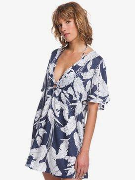 록시 비치 드레스 Roxy Summer Cherry Cover-Up Beach Dress,MOOD INDIGO FLYING FLOWERS S (bsp6)