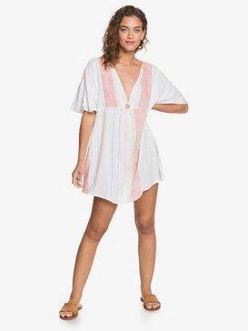 록시 비치 드레스 Roxy Summer Cherry Cover-Up Beach Dress,BRIGHT WHITE TRUE STRIPES S (wbb3)