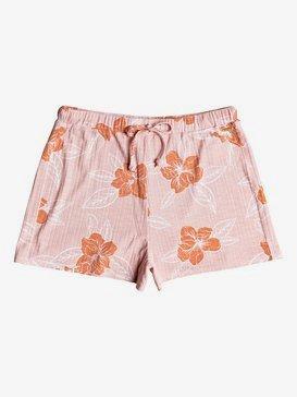 록시 비치 반바지 Roxy Nusa Dua Short Rib Knit Shorts,SILVER PINK PHILLY S (mfc6)