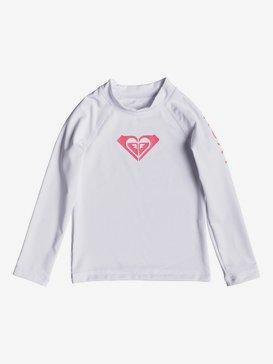 록시 2-7 여아용 반팔 래쉬가드 수영복 Whole Hearted Long Sleeve UPF 50 Rashguard,BRIGHT WHITE (wbb0)