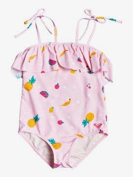 록시 2-7  여아용 원피스 수영복 Lovely Aloha One-Piece Swimsuit,ROSE SHADOW FRUIT SALAD (mda6)