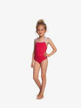 록시 2-7  여아용 원피스 수영복 Lake Of Stars One-Piece Swimsuit,LIPSTICK RED STARS DOTS S (rqm3)