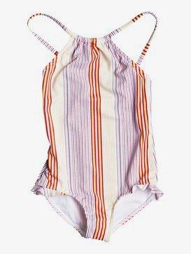 록시 2-7  여아용 원피스 수영복 Kindness One-Piece Swimsuit,BRIGHT WHITE FISH STRIPES S (wbb5)