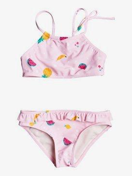 록시 2-7  여아용 비키니 수영복 세트 Lovely Aloha Crop Top Bikini Set,ROSE SHADOW FRUIT SALAD (mda6)
