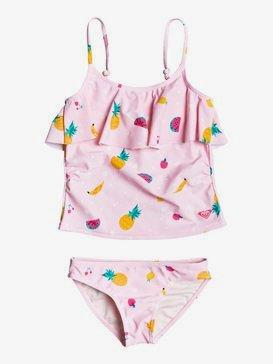 록시 2-7  여아용 비키니 수영복 세트 Lovely Aloha Tankini Bikini Set,ROSE SHADOW FRUIT SALAD (mda6)