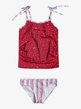 록시 2-7  여아용 탱키니 수영복 세트 Lake Of Stars Tankini Bikini Set,BLUE HEAVEN STARS STRIPES S (blf3)