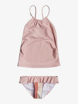 록시 2-7  여아용 비키니 수영복 세트 Kindness Tankini Bikini Set,BRIGHT WHITE FISH STRIPES S (wbb5)