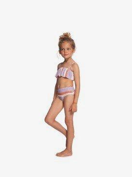 록시 2-7  여아용 비키니 수영복 세트 Kindness Flutter Bikini Set,BRIGHT WHITE FISH STRIPES S (wbb5)