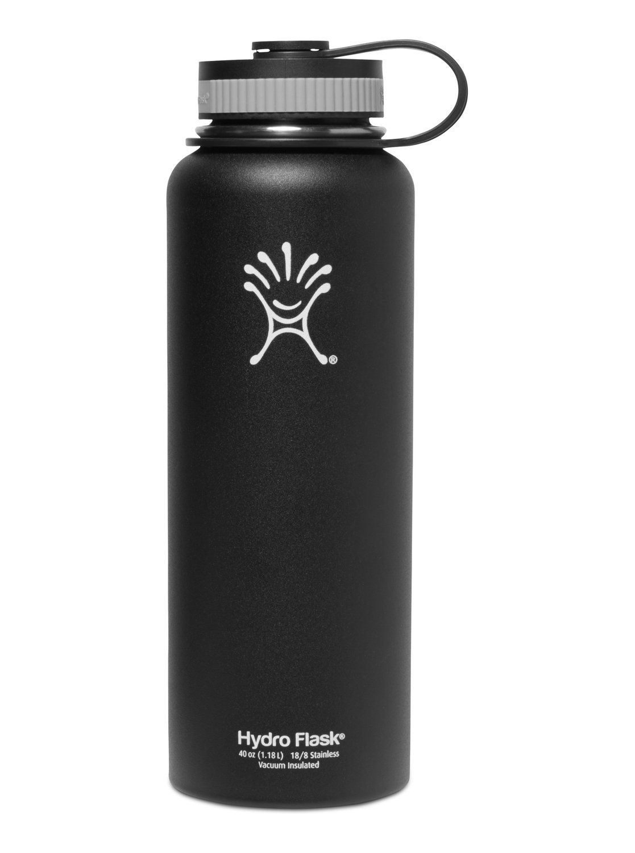 a7b7aca4e5 1 Hydro Flask 40 OZ Wide-Mouth Black Water Bottle CW40001 Quiksilver
