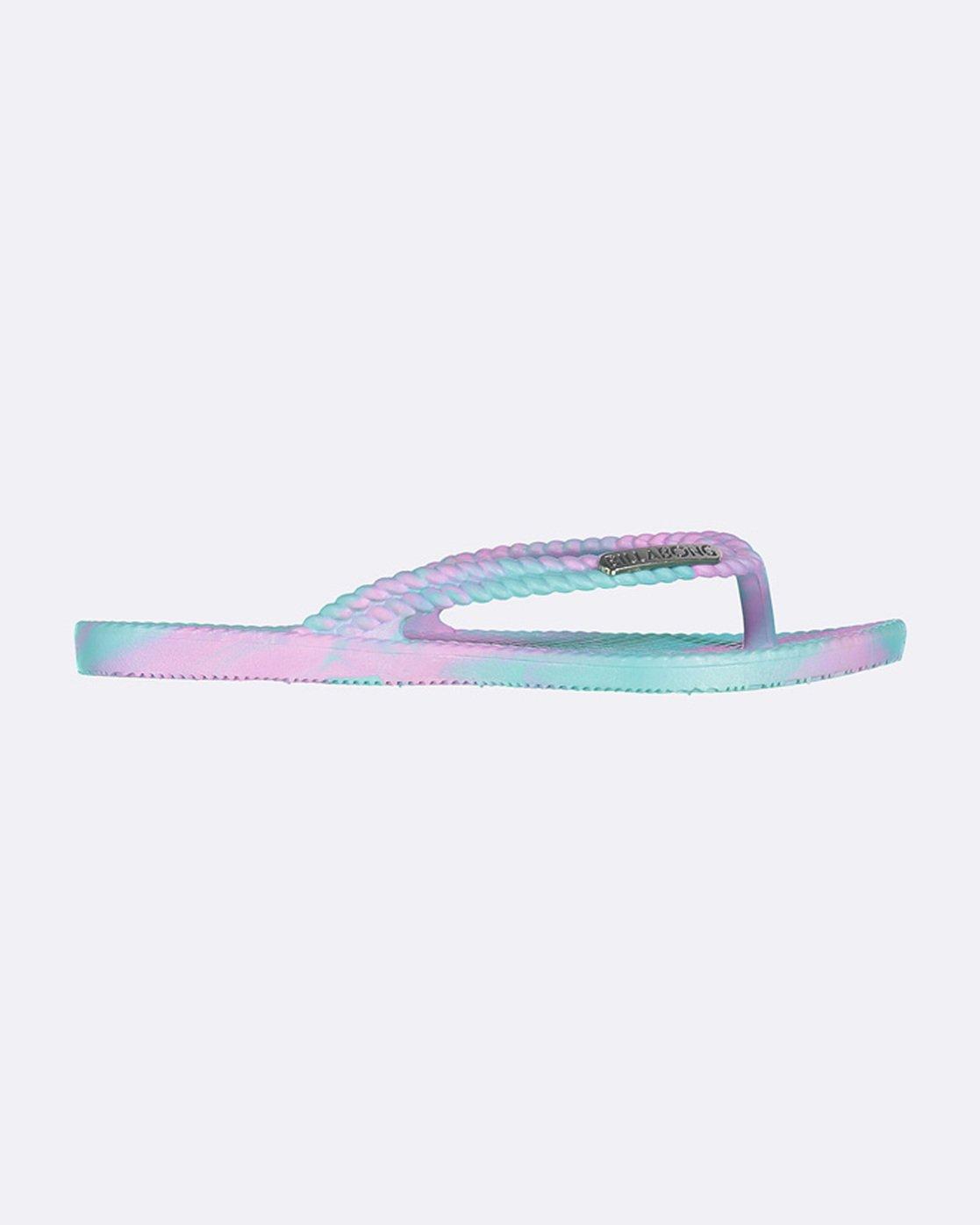 BILLABONG NEW Teen Girls FlipFlops Thongs Sandals KICKS marble mermaid Surf Logo