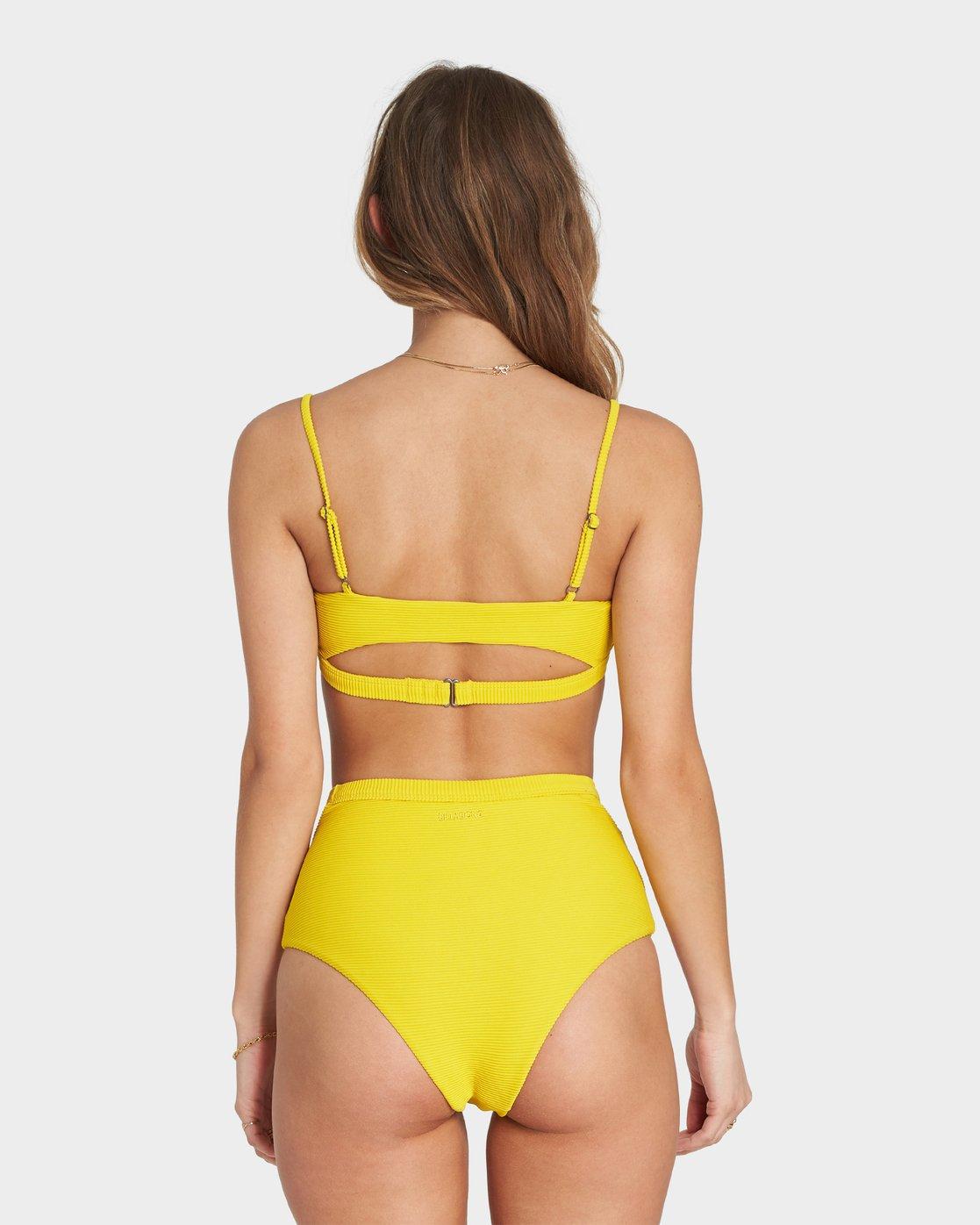 Tanlines Trilet Rib Knit Bikini Top