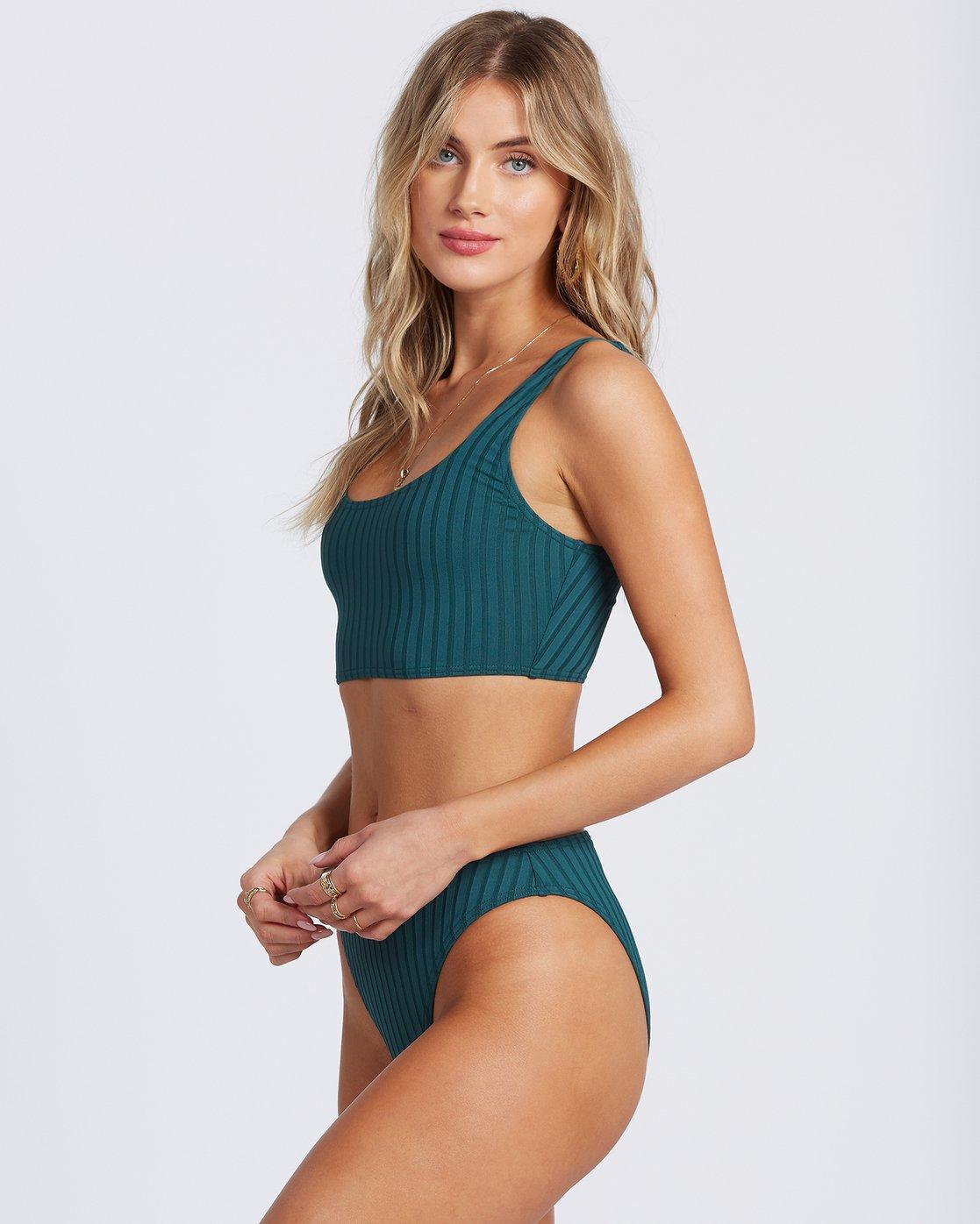 Sunny Rib Crop Tank Bikini Top