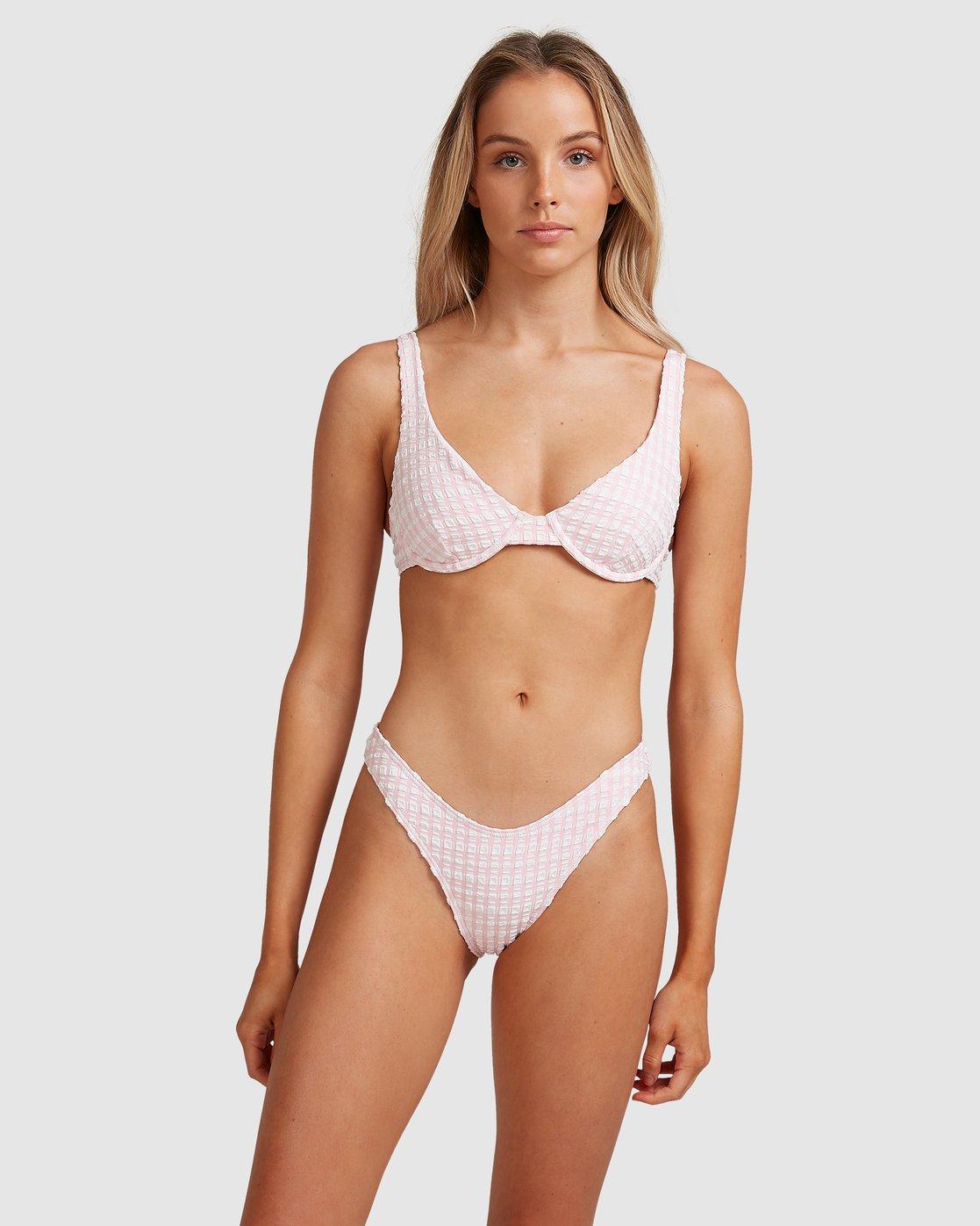 Wave Check Bralette Bikini Top