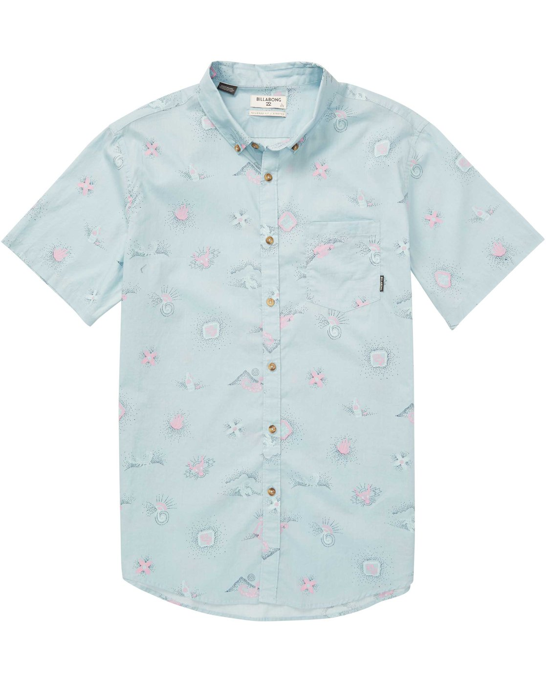 f2c89108 0 Boys' Sundays Mini Short Sleeve Shirt Blue B508QBSM Billabong