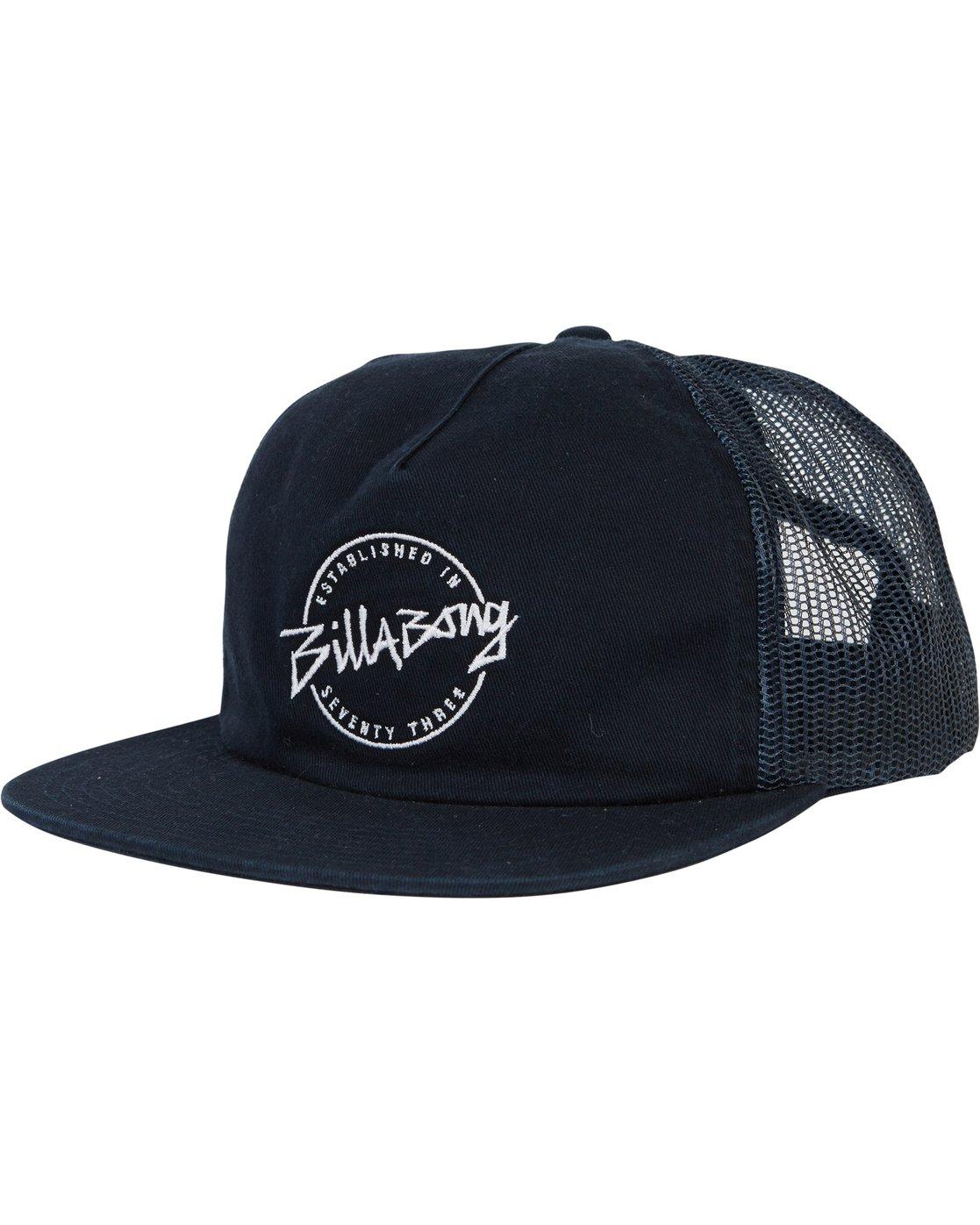 buy popular e7496 abfa8 0 Boys  Breakdown Trucker Hat Blue BAHWSBBR Billabong