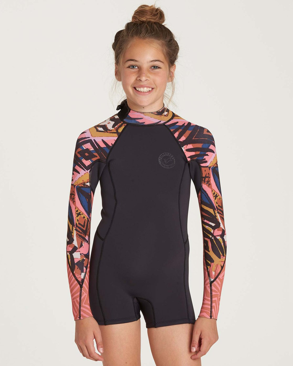 306719d9223f 0 Girls' Spring Fever Long Sleeve Back Zip Springsuit GWSPNBSF Billabong