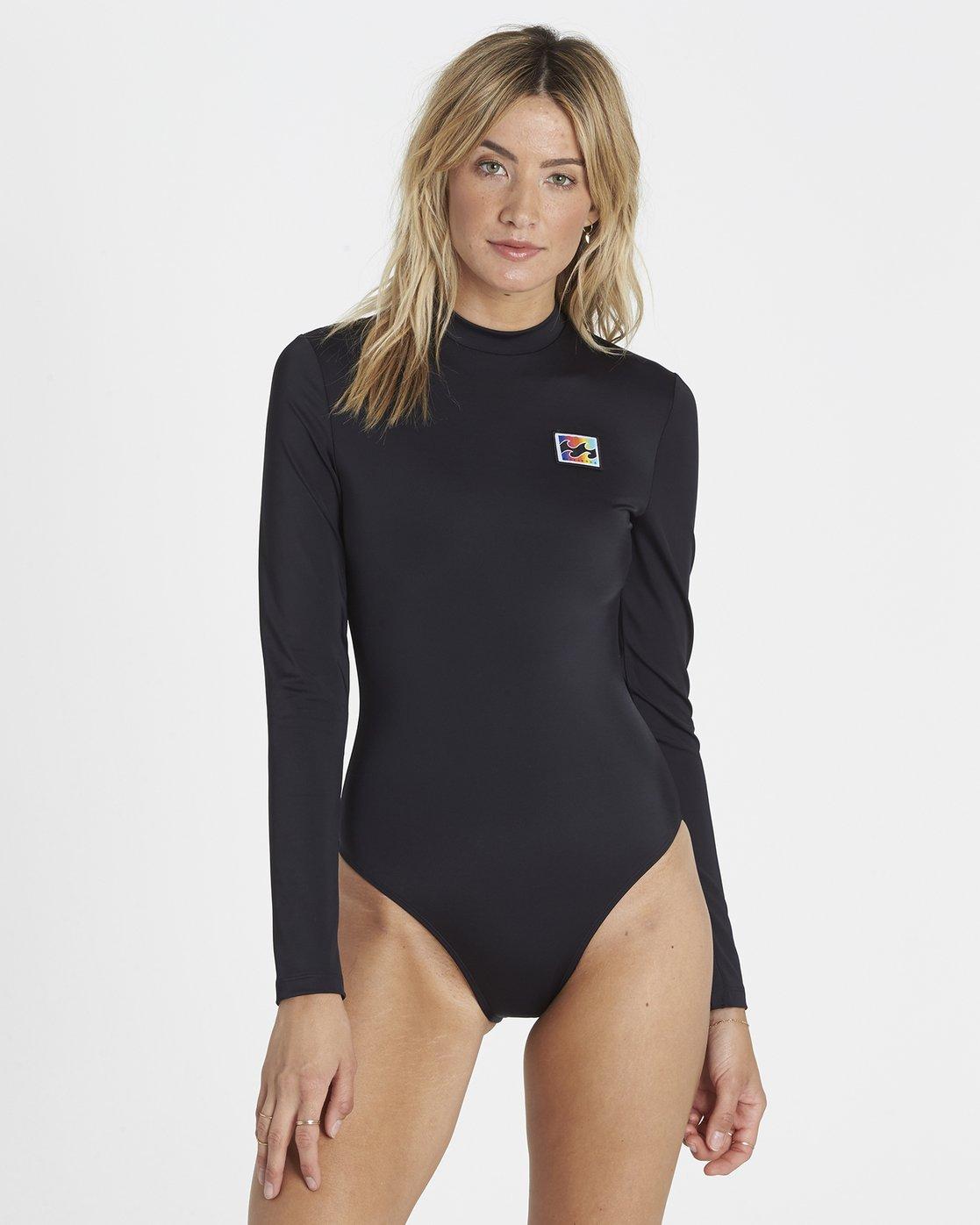 fcc9b0bd6 0 Re-Issue Long Sleeved Bodysuit Rash Vest Black H3GY02BIP8 Billabong