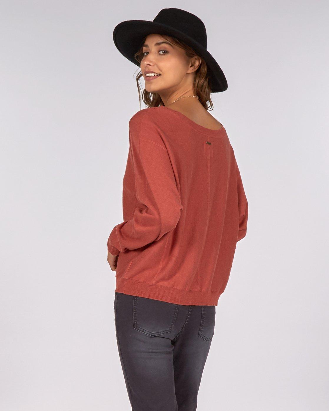 Billabong No Regrets Jumper Sienna Ladies Sweatshirts /& Jumpers