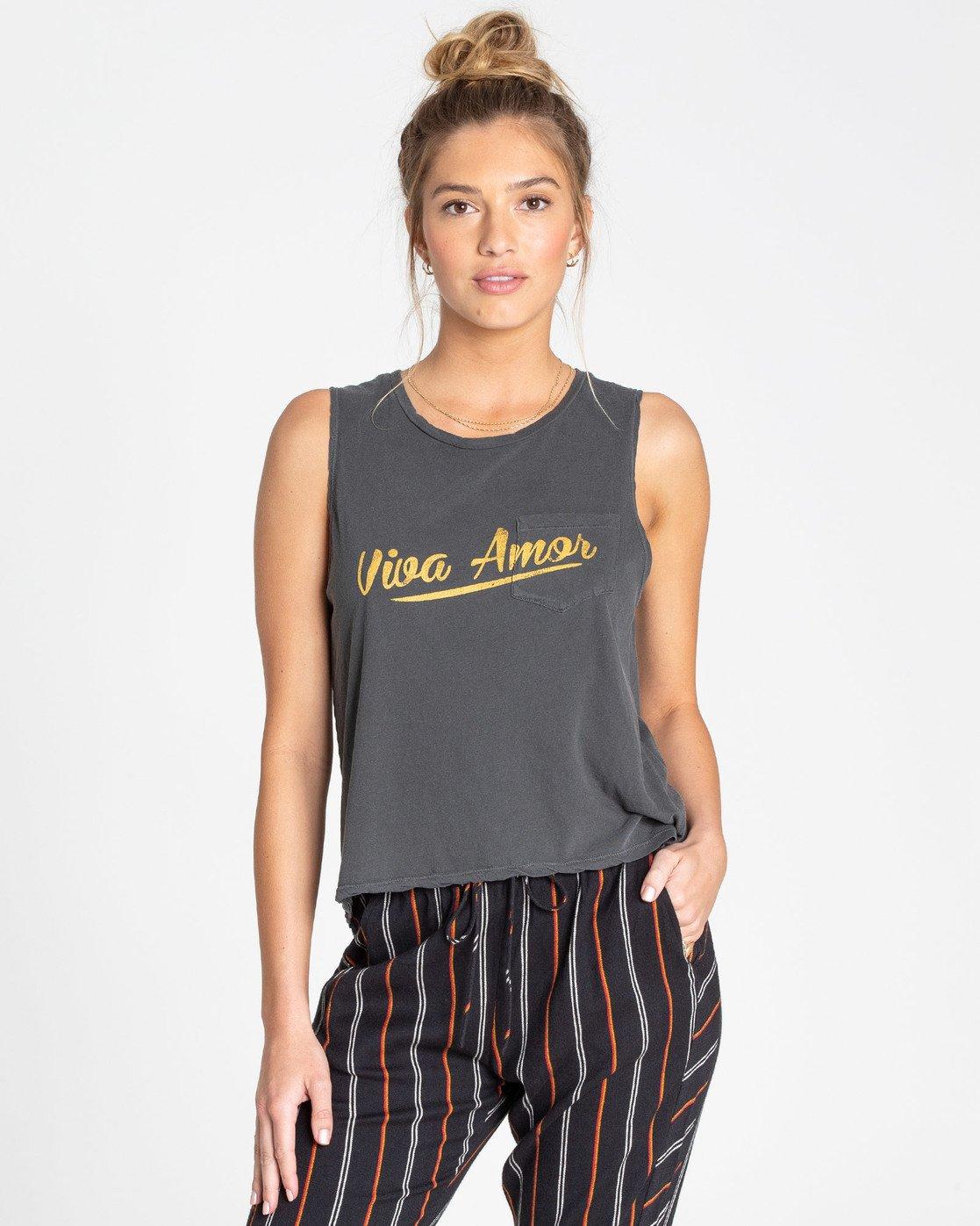 Billabong Section Sleeveless T-Shirt in Black