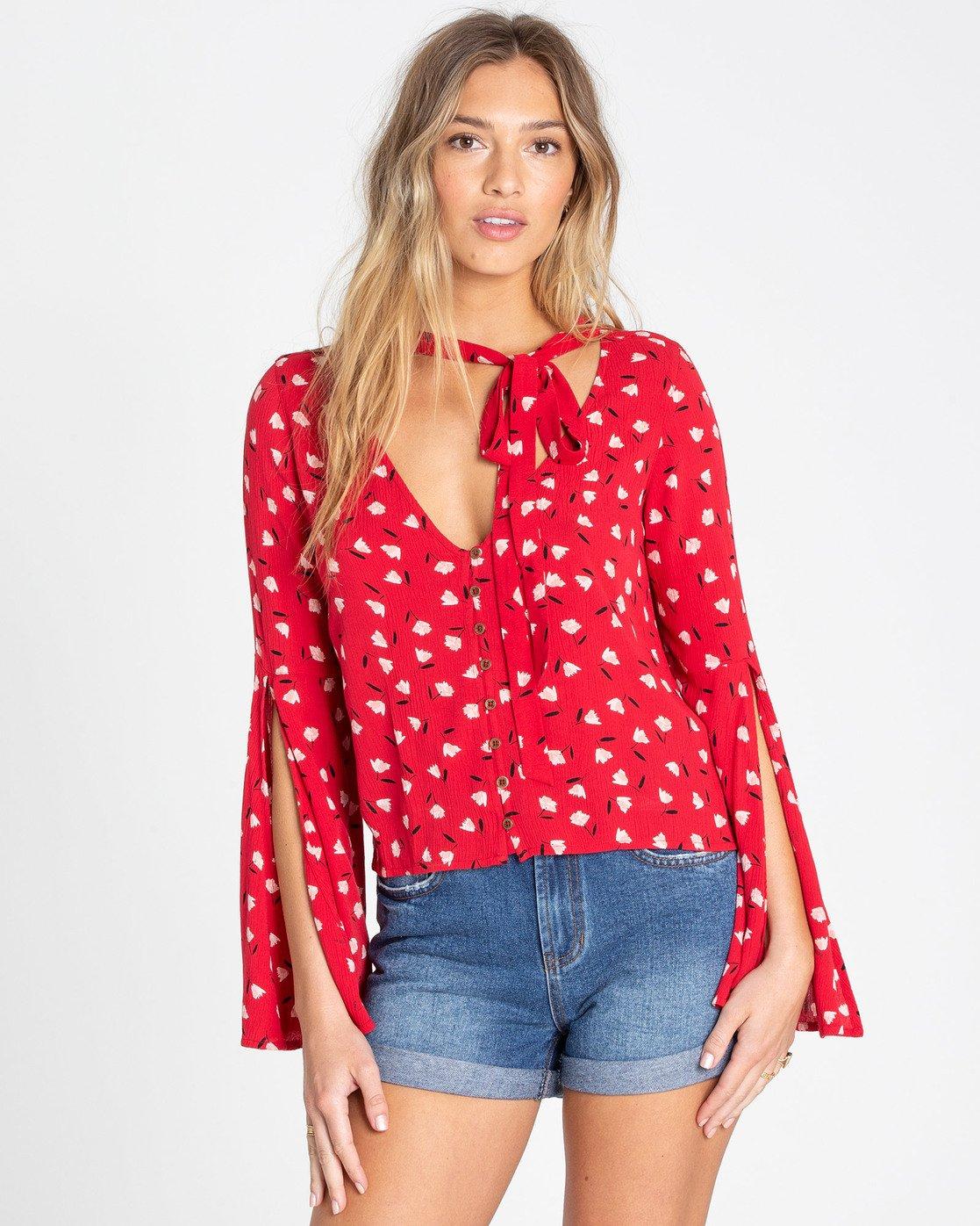 Lust Linger Long Sleeve Blouse 828570331689 | Billabong