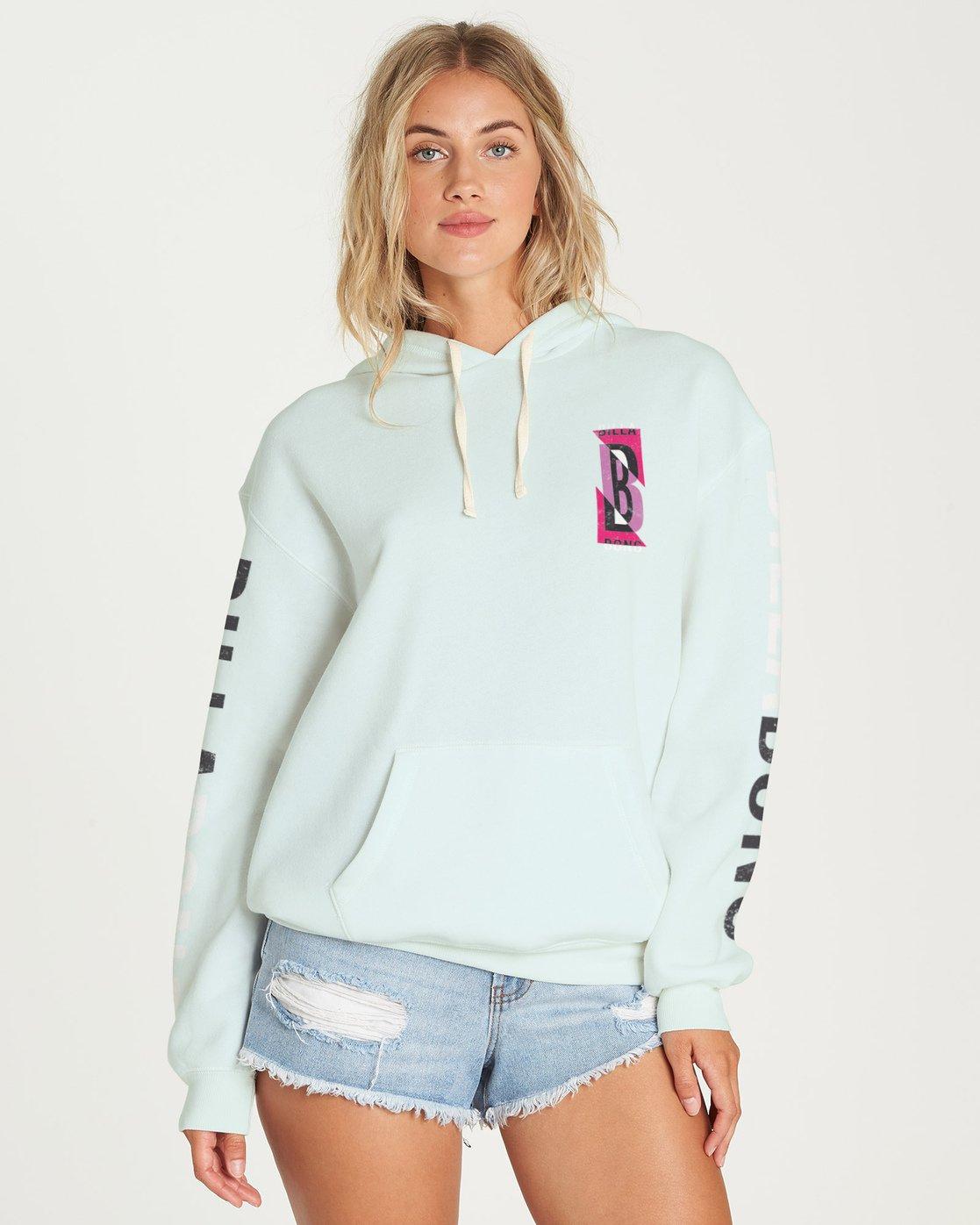 Black Billabong Legacy Sweatshirt Ladies Sweatshirts /& Jumpers