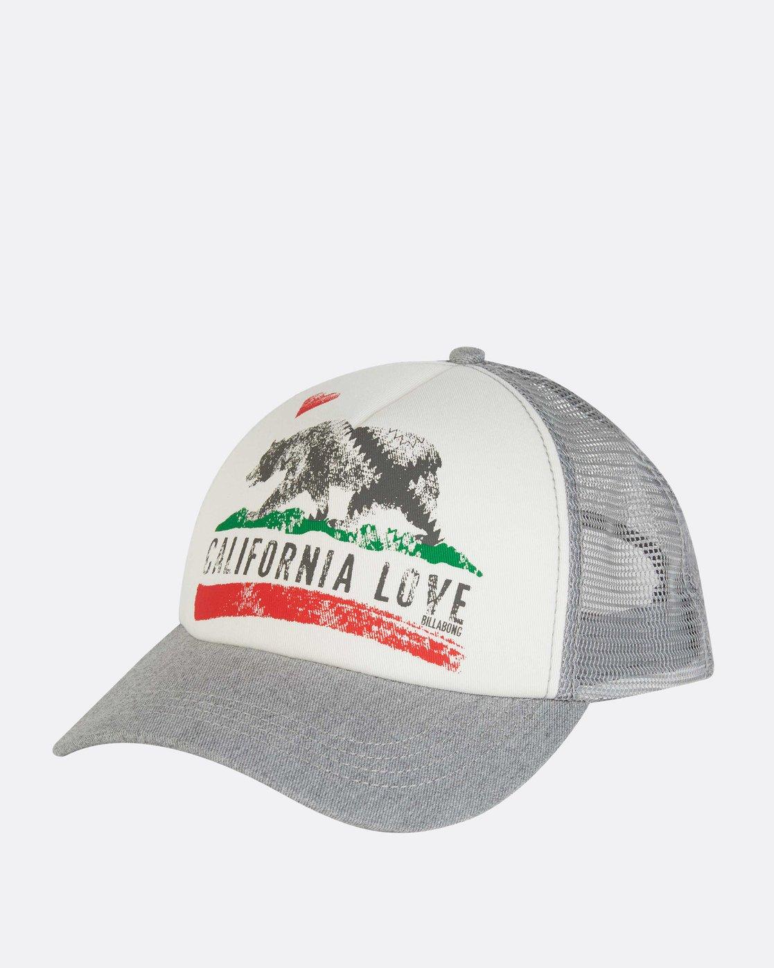 cc179d119013e 0 Pitstop Trucker Hat Grey JAHT7PIT Billabong