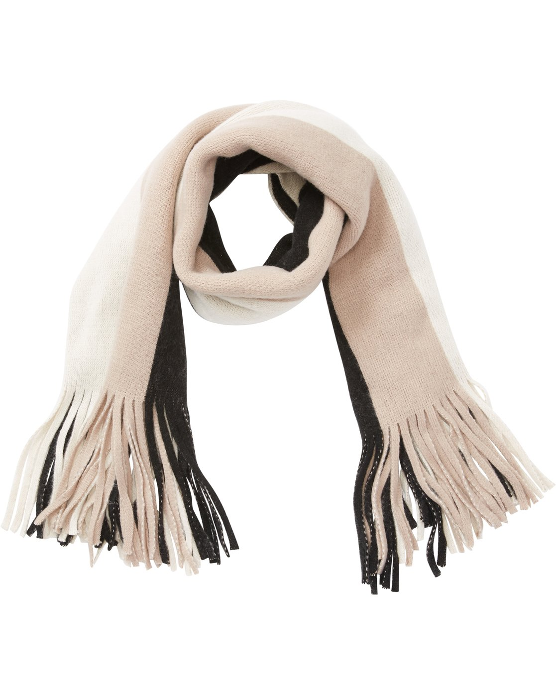 On The Fringes Striped Scarf Jascsbon Billabong
