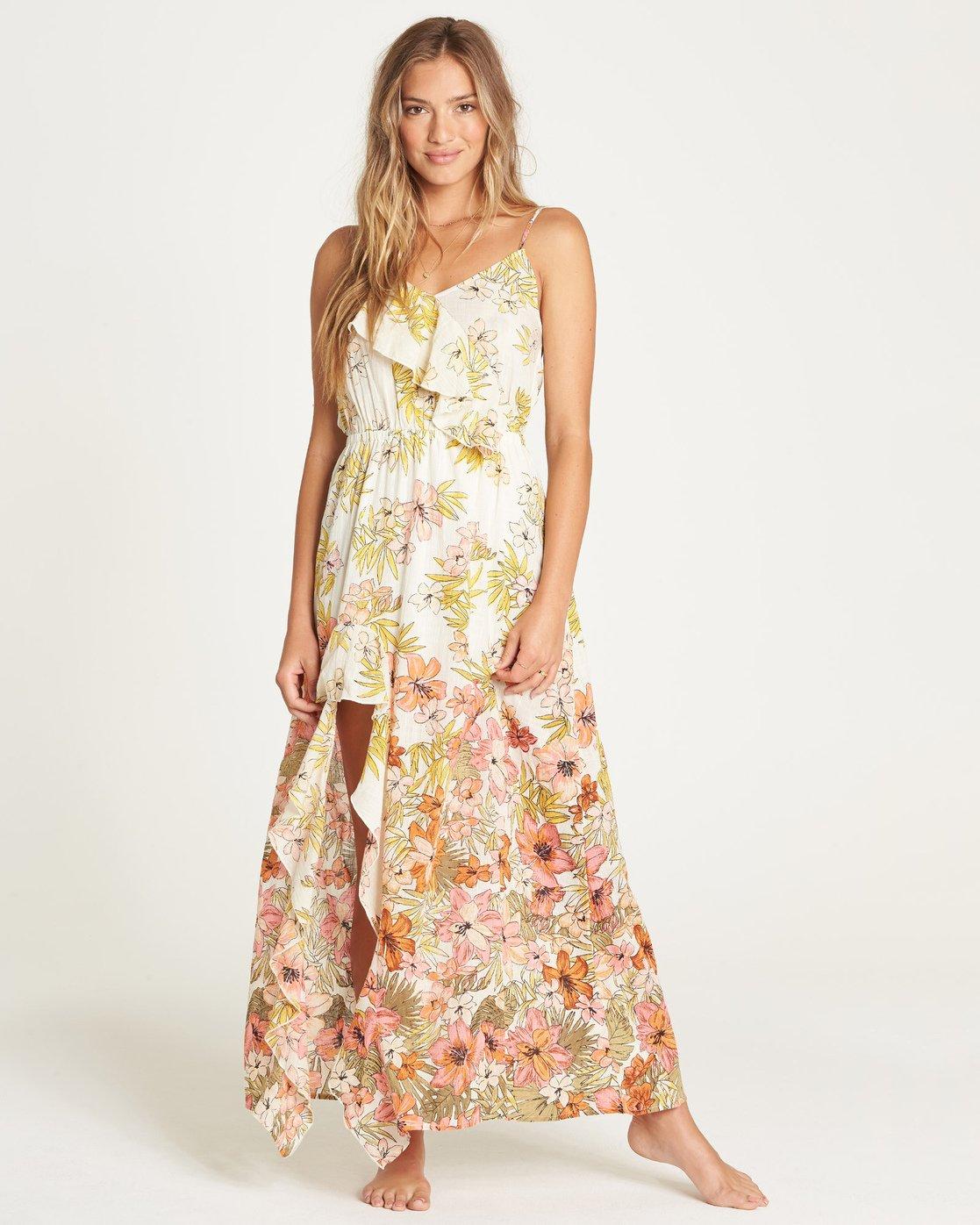 Ladies Dress Top Summer Maxi New Summer Womens SIze Sleeve Billabong Beach