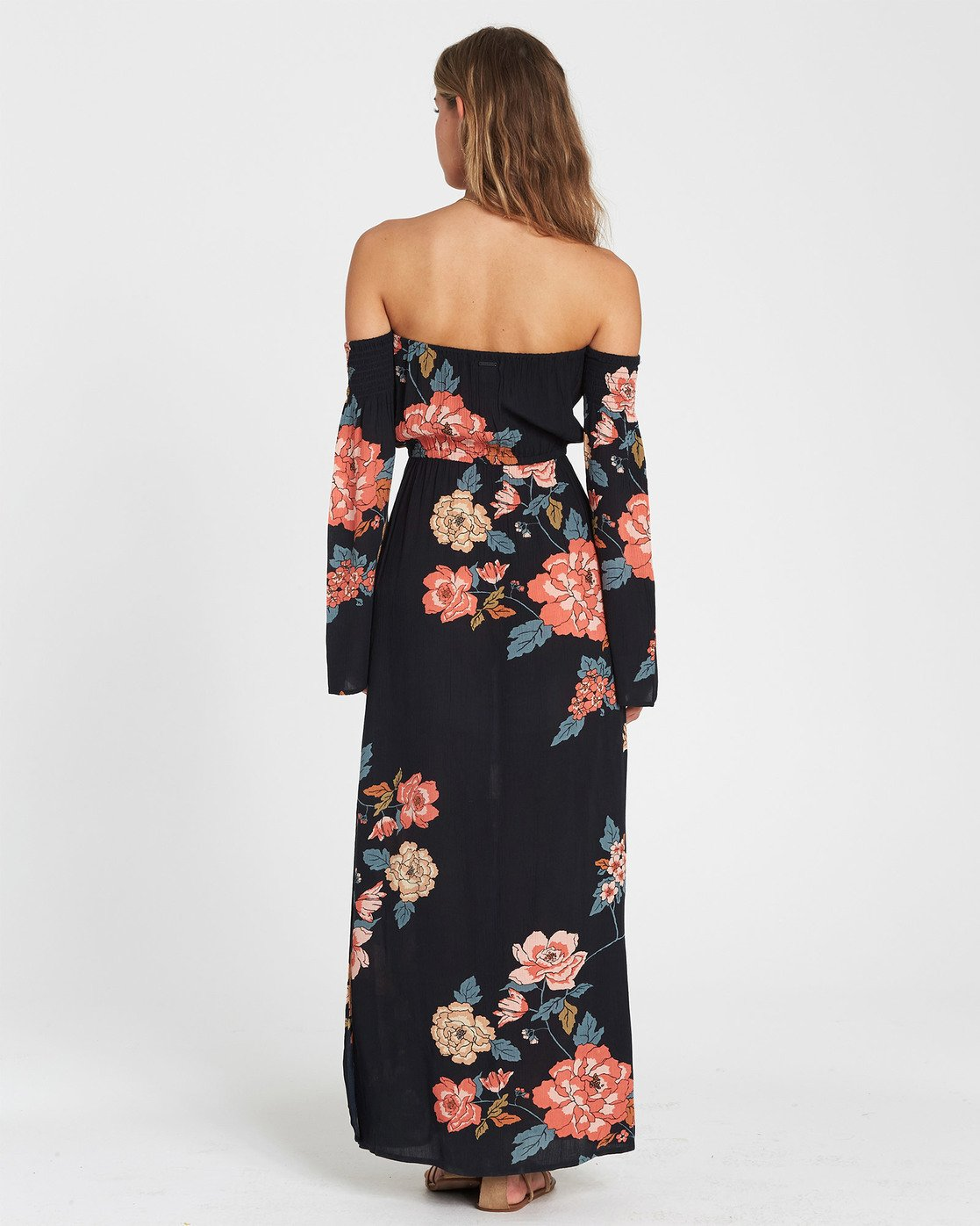 4b6d0259271 2 Crystal Flower Off-The-Shoulder Maxi Dress Black JD14SBCR Billabong