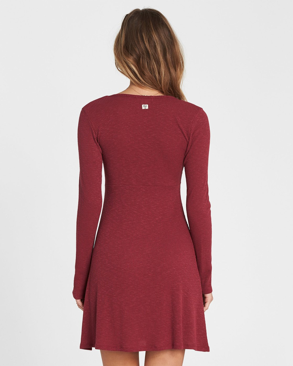 6c898bc2e8 2 Walk On Long Sleeve Sweater Dress Red JD17SBWA Billabong